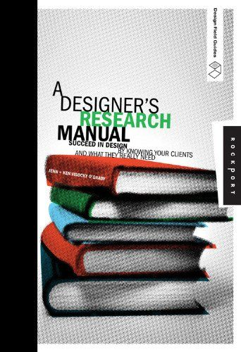Designer's Research Manual: Succeed in Design by Knowing Your Clients and What They Really Need (Design Field Guides) von Jennifer Visocky O'Grady http://www.amazon.de/dp/1592535577/ref=cm_sw_r_pi_dp_ic3Cvb0KZJ00Q