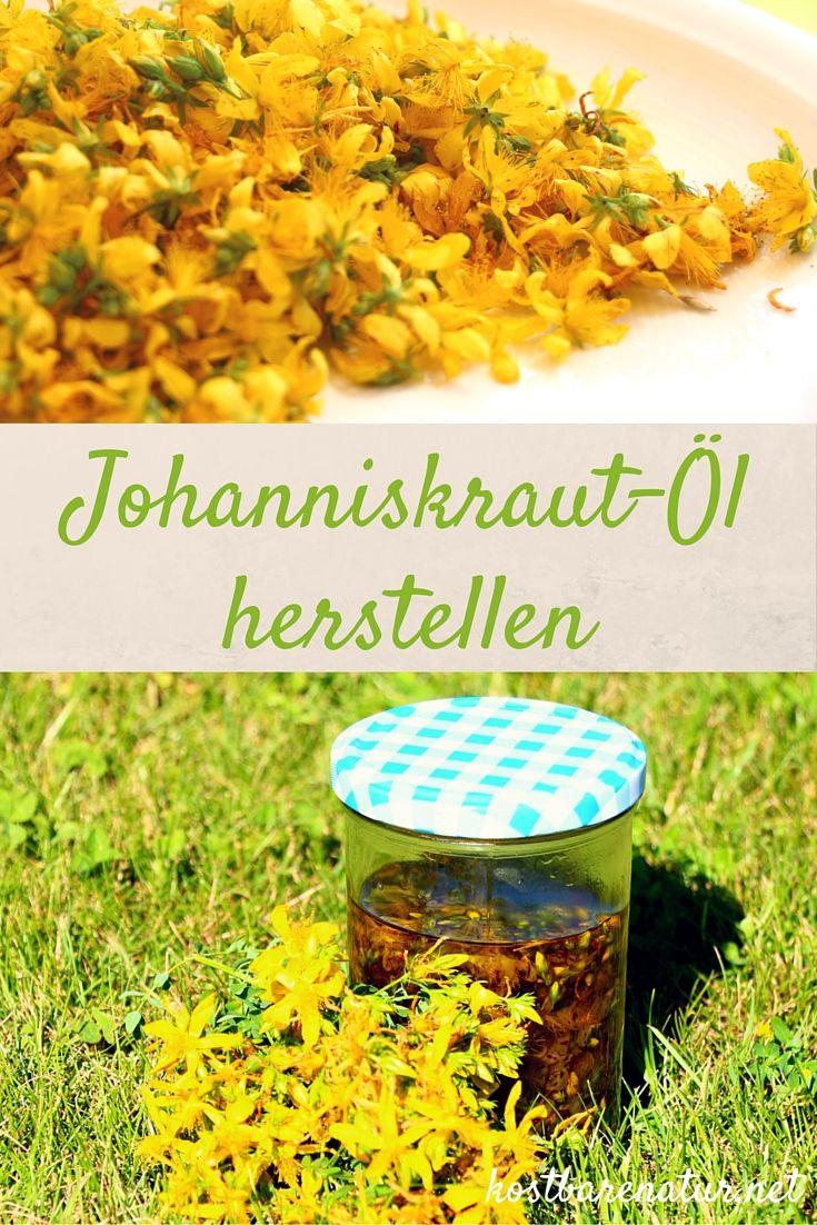 Johanniskraut-Öl oder auch Rotöl lässt sich sehr leicht selbst herstellen.