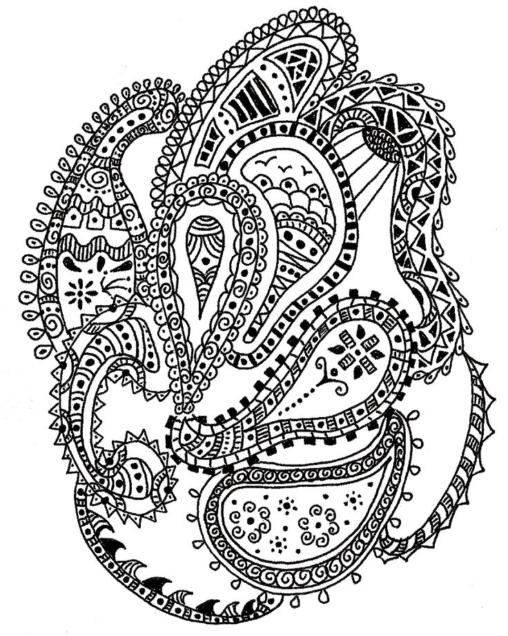 paisley coloring pages peace - photo#36
