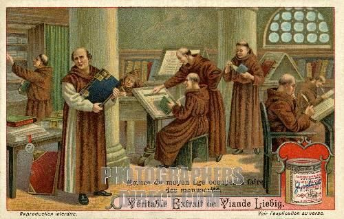 Monasteries in the Middle Ages | ... Monks copying ...