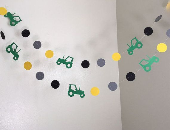Hey, I found this really awesome Etsy listing at https://www.etsy.com/au/listing/266993787/tractor-birthday-party-decoration