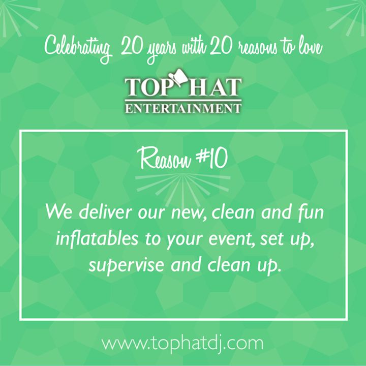 Celebrating 20 Years with 20 Reasons to love Top Hat!