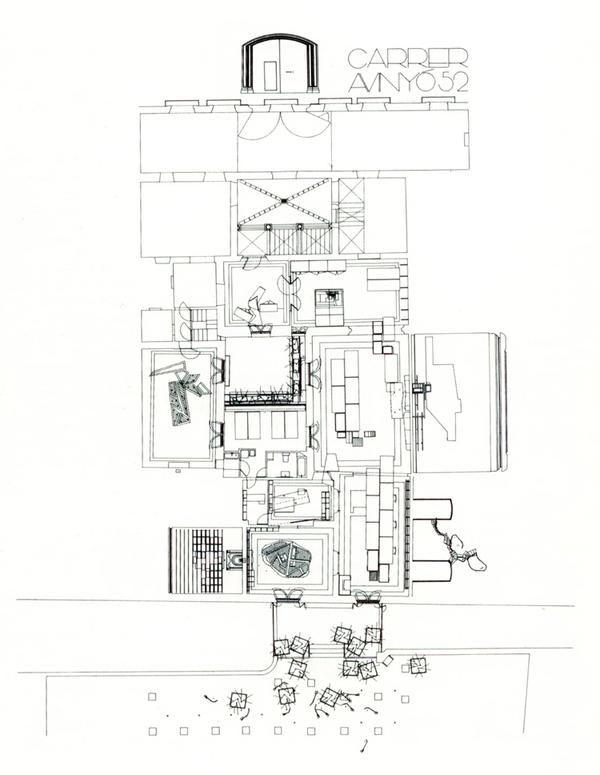 Casa-estudio de Enric Miralles en Carrer d'Avinyó 52, Barcelona.