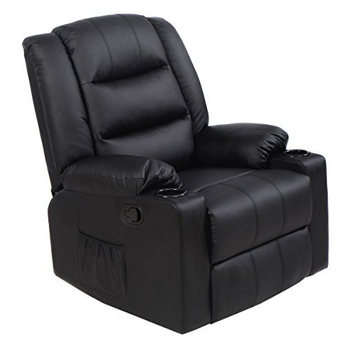 Wonderful Tangkula Ergonomic Recliner Massage Sofa Chair Swivel Lounge Heated W/  Control (Black) Https