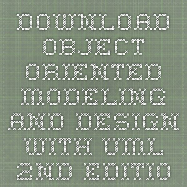 Download object oriented modeling and design with uml 2nd edition ebook pdf