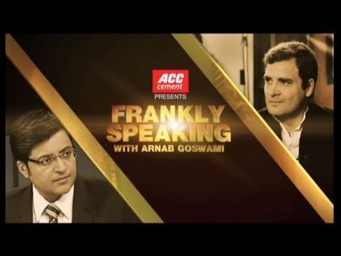 Pappu babbling frankly with Arnab Goswami
