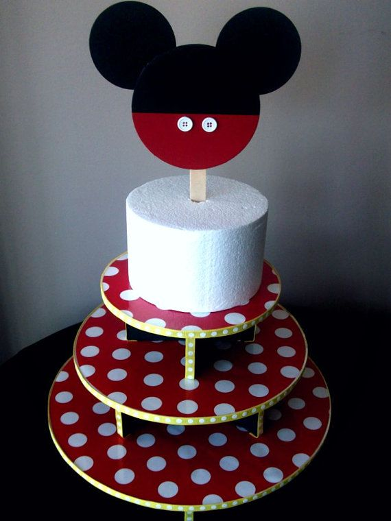 Vintage Mickey Mouse Birthday Cake Candle Holders
