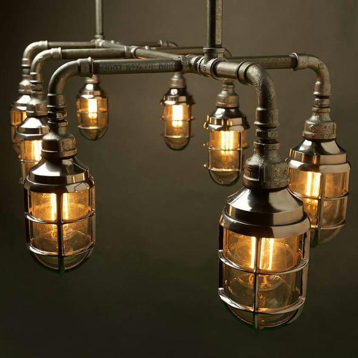 Best 25 industrial chandelier ideas on pinterest for Plumbing light fixtures