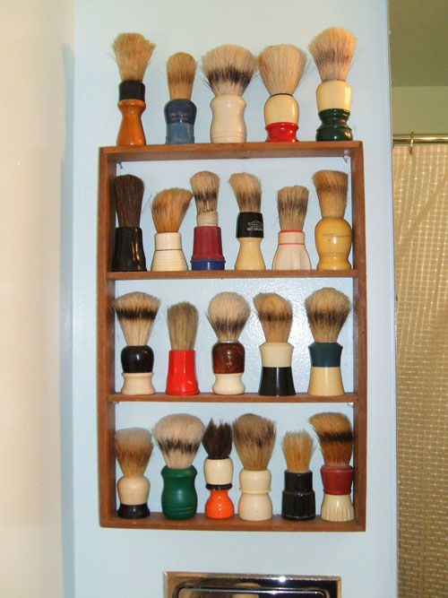 Shaving brush collection. Is it sad I can recognize at least half of these by brand?