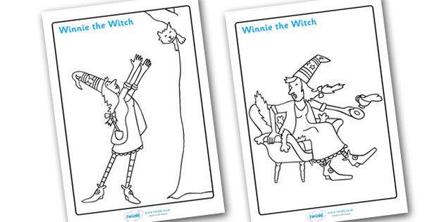 Winnie The Witch Colouring Sheets