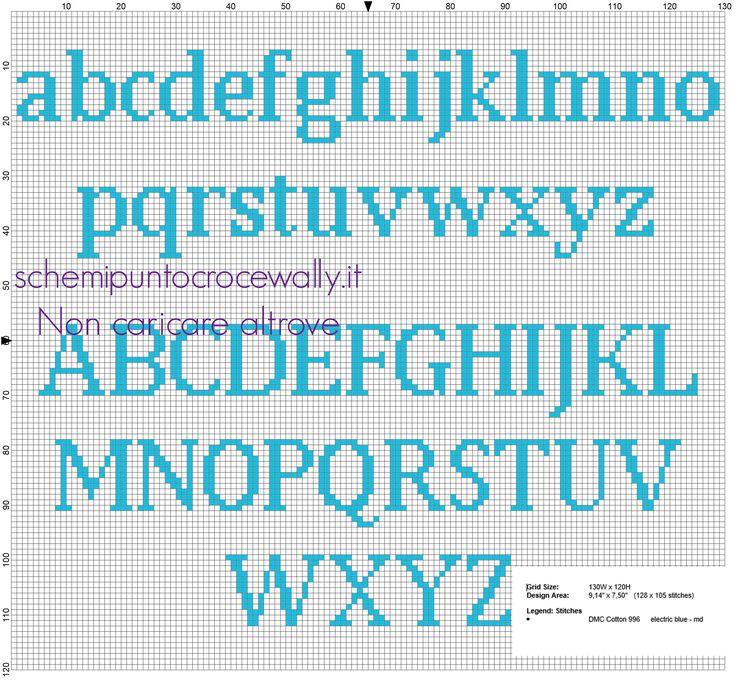 Risultati immagini per alfabeto minuscolo punto croce