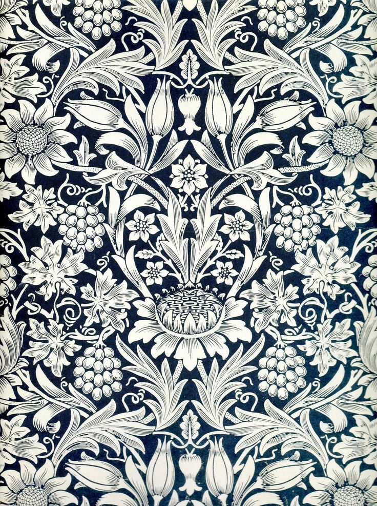 William Morris Sunflower wallpaper