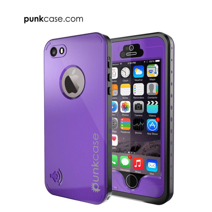 iPhone 5S/5 Waterproof Case, PunkCase StudStar Purple Case for Apple iPhone 5S/iPhone 5 Waterproof Case W/ Attached Screen Protector Lifetime Warranty