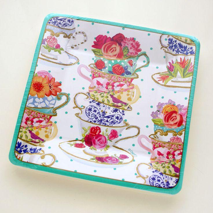 Caspari Dessert Plate |  Illustration by masaki ryo