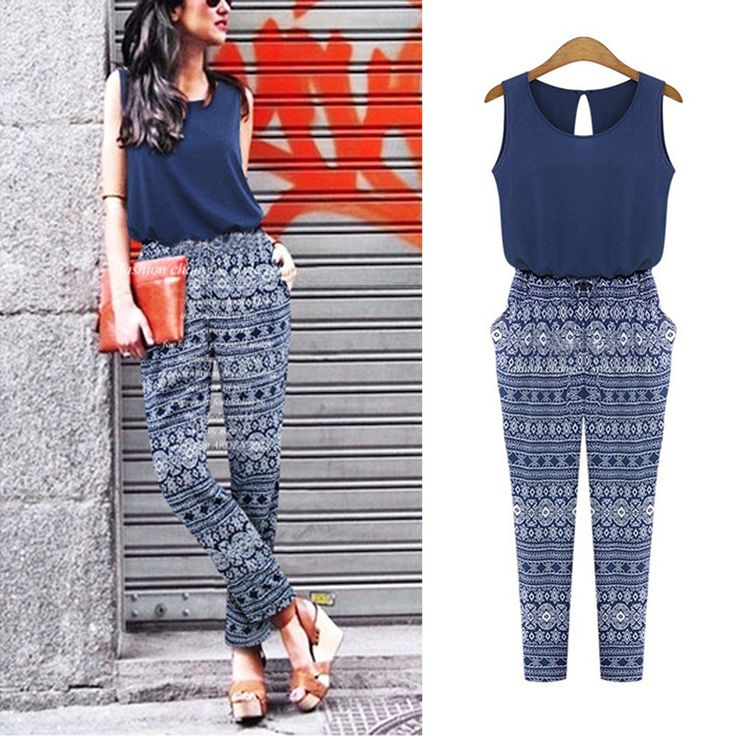 Fashion Summer Sexy Women Casual Sleeveless Party Clubwear Jumpsuit Long Pants Jumpsuit  Playsuit Romper