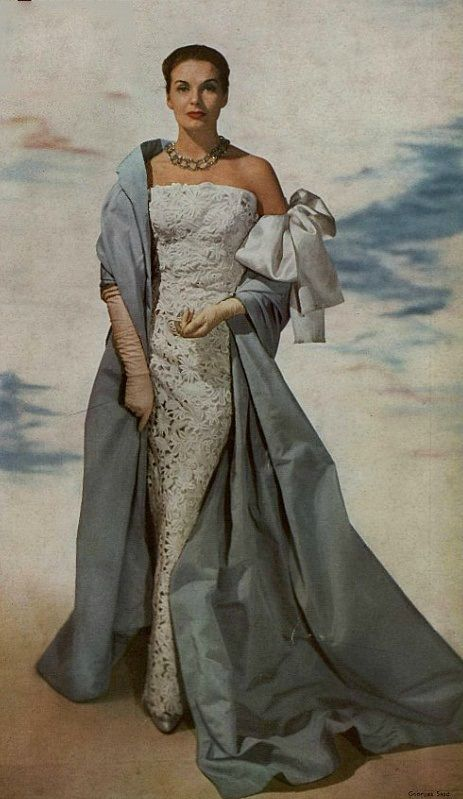 Cristóbal Balenciaga Evening Ensemble, 1955
