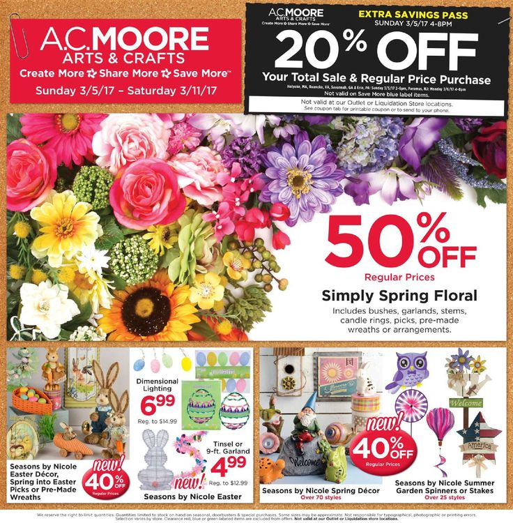 AC Moore Weekly Ad March 5 - 11, 2017 - http://www.olcatalog.com/home-garden/ac-moore-weekly-ad.html