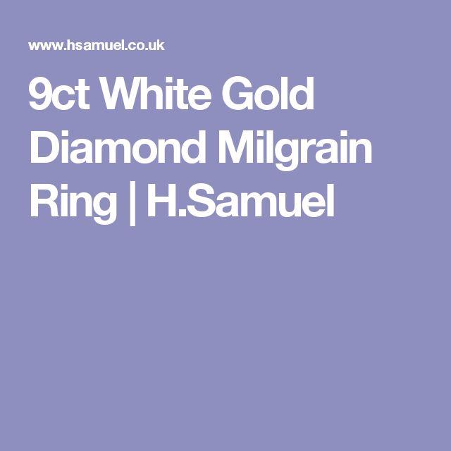9ct White Gold Diamond Milgrain Ring | H.Samuel