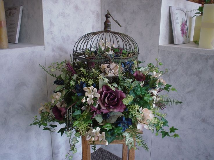 91 best french country floral arrangements images on pinterest fall artifical floral arrangements ideas wine royal blue and cream birdcage silk floral table dried flowerssilk mightylinksfo Choice Image