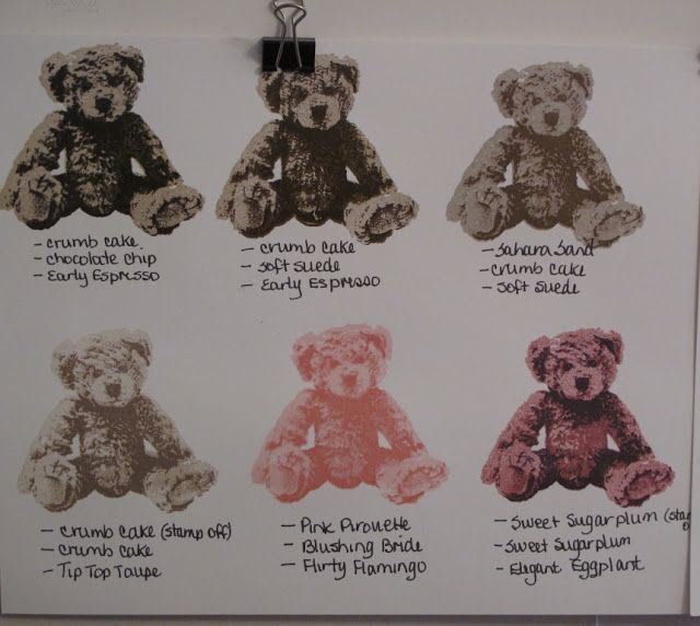 In My Craft Room - Stamping With Glenda: Stampin' Up! Baby Bear stamp set colours