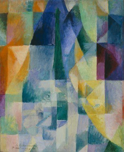 R. Delaunay, Simultaneous Windows (2nd Motif, 1st Part) (Les fenêtres simultanées [2e motif, 1re partie]), 1912.