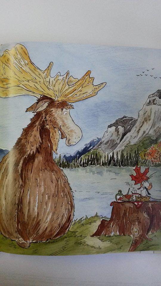 'Tilda Apfelkern' meets a happy moose