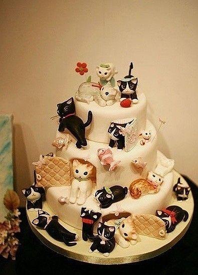 Cat Cake- Party cupcakes-birthday -dogumgunu pastasi ...