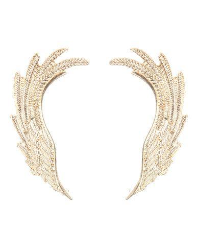 Utopia Angel Wing Stud Earrings Faux Gold 69