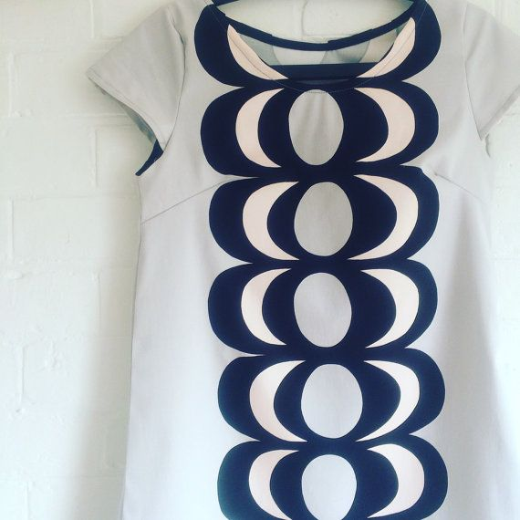 Marimekko Kaivo Fabric Dress by karlacola on Etsy