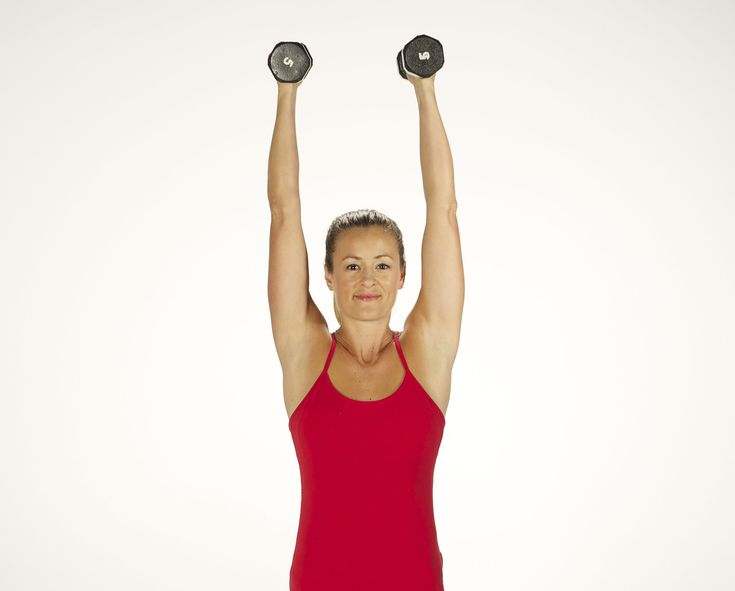 How to Do a Standing Overhead Press With Dumbbells   POPSUGAR Fitness