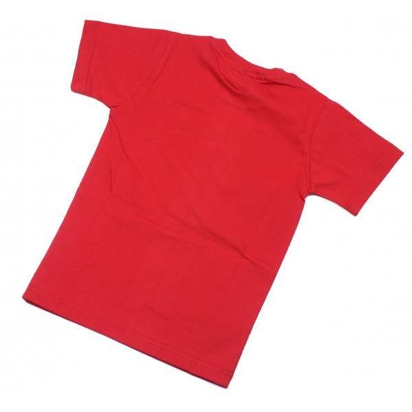 Красная детская однотонная футболка