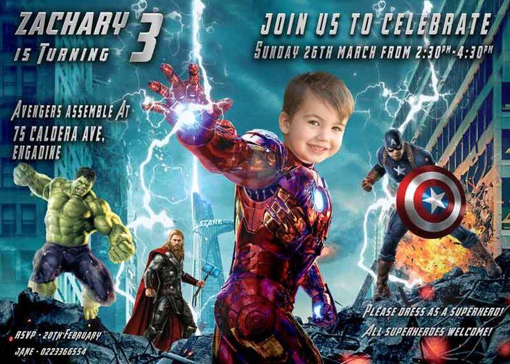 48 best boys birthday party invitations images on pinterest boy iron man invitation parody avengers invitation superhero birthday invite stopboris Images