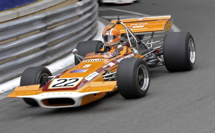 John Love in the Team Gunston March 701 - he was the only Rhodesian driver to achieve a podium finish