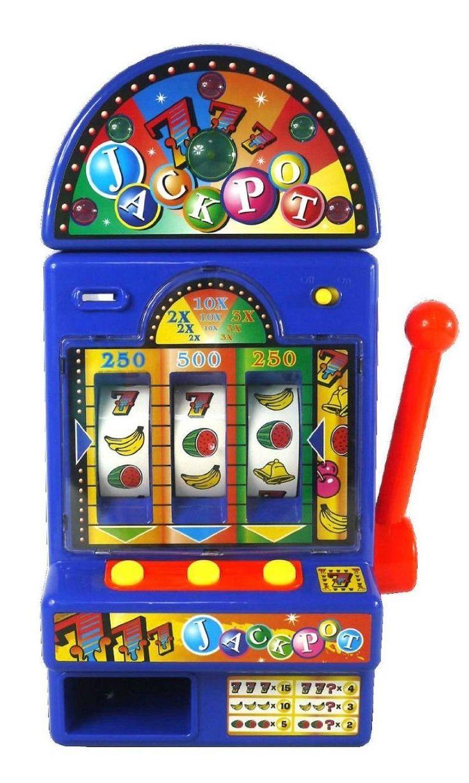Ukayed Fruit Machine Slot Bandit Vegas Casino Style Games Novelty Electric LED Slot Machine Fruit One Arm Bandit Money Bank Jackpot triggers authentic Casino lights and sound effects