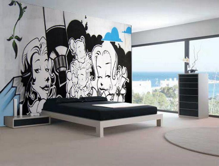 Graffiti Bedroom Custom Of 1000 Ideas About Graffiti Bedroom On ...