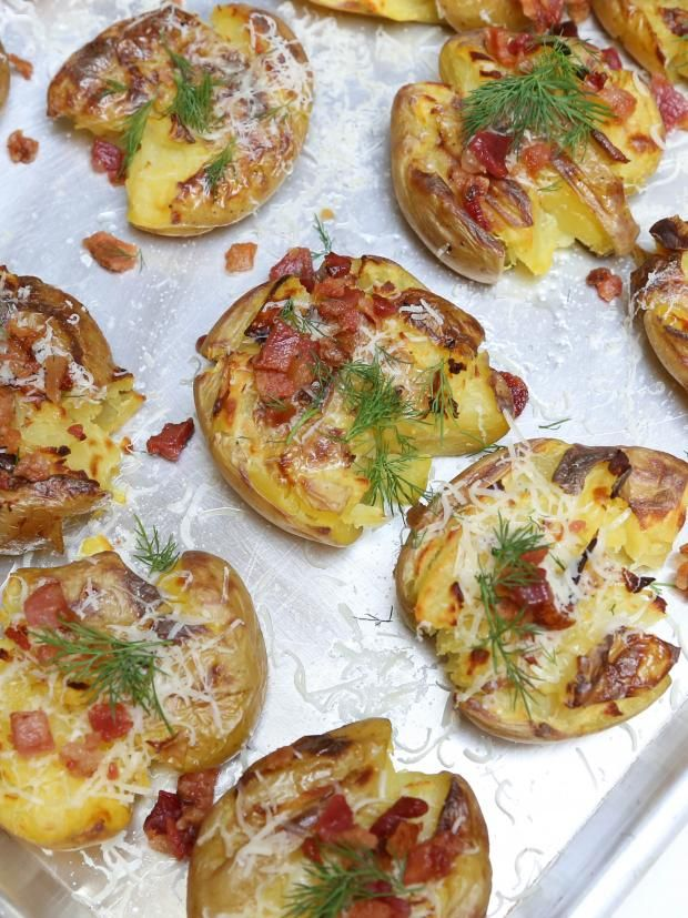... Potatoes Bacon, Food Potatoes, Potatoes Skin, Smashed Potatoes Recipe