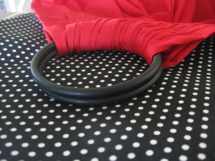 BABY RING SLING INFANTTO TODDLER wrap carrier RED  base  nite dots tail + POCKET