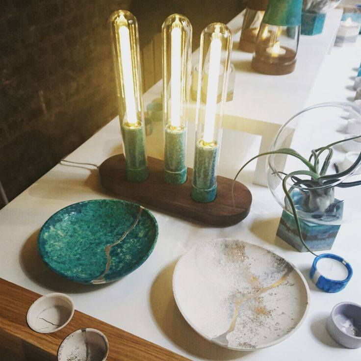A mixture of jesmonite and copper make these jewellery tray's an eye-catching and beautiful piece that we definitely want on our dressing table. We spotted this designer at Clerkenwell 2016 and love the Landscape of Oxidation collection.