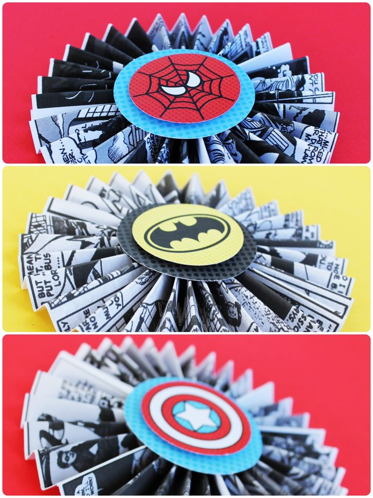 Superhero Collection (Spiderman Batman Capt America). Circle Tags (all 3 characters). DIY Printable Design. Pinkadot Shop. $9.00, via Etsy.