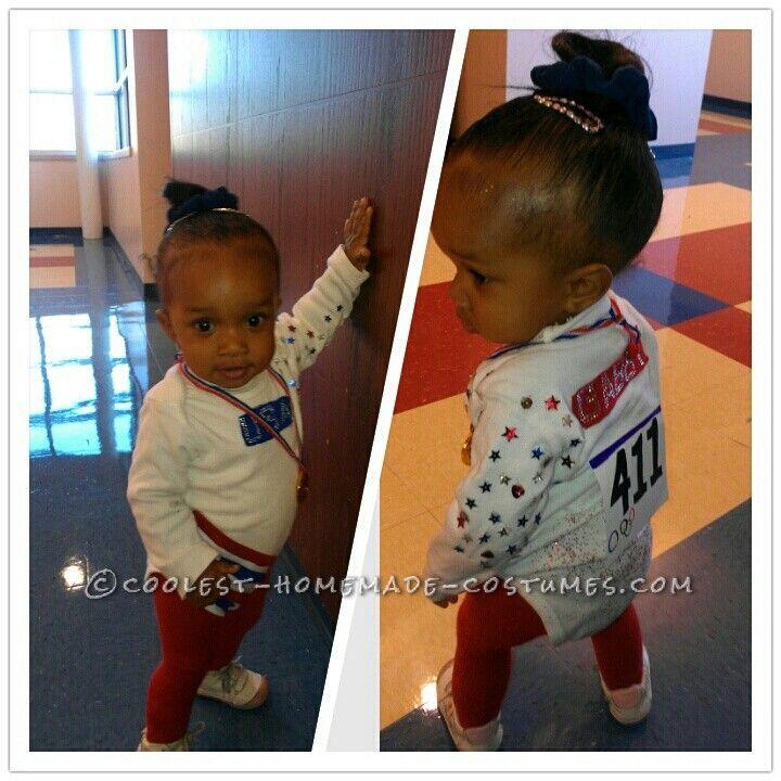 lastminute diy toddler costume usa olympic gold medalist gymnast gabby douglas