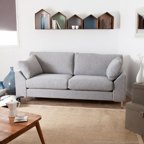 17 best ideas about canap gris chin on pinterest table for Canape tissu gris chine