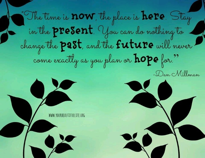Now, here, present, past, future & hope!