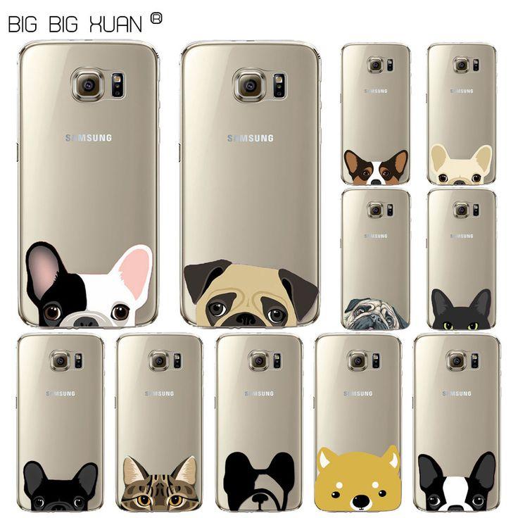 Funny Phone Case For Samsung S5 S6 S6edge S6Edgeplus S7 S7Edge Cute Fashion Cat Dog Fundas Back Capa Para Celular