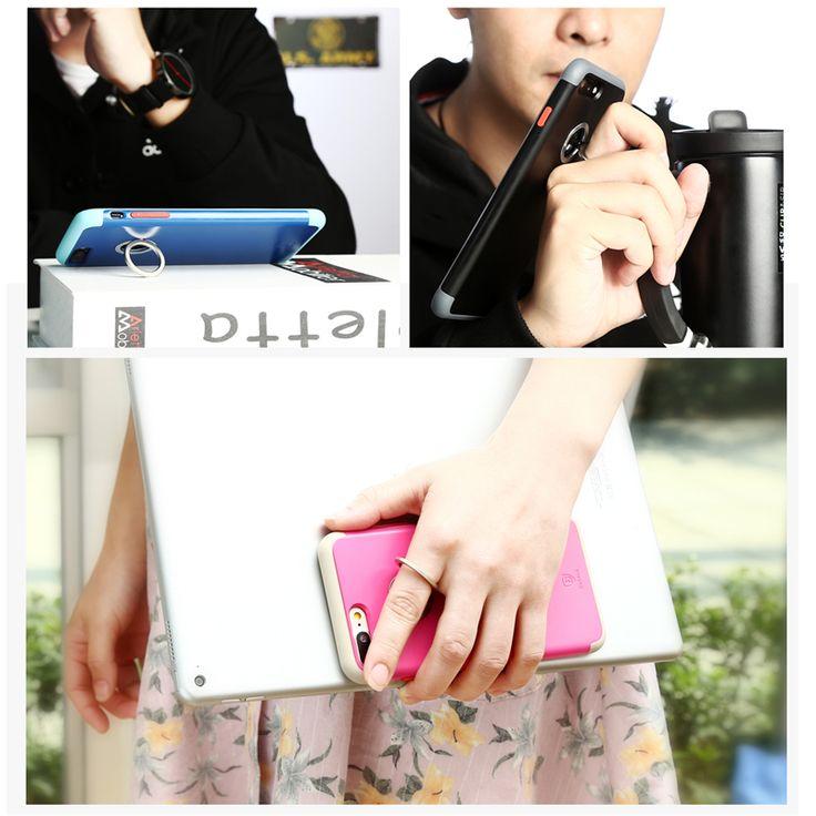 Baseus Magnetic Ring Vihicle Mount Desktop Bracket Cover Case for iPhone 7 Plus 5.5 Inch