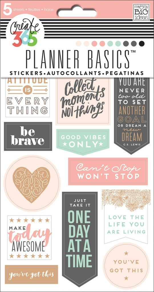 Planner Basics™️ Stickers - Rose Gold