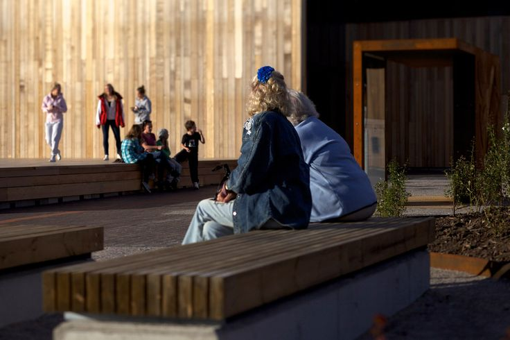 Project: Solberg Tower & Rest Area Designers: Saunders Architecture  Location: Sarpsborg, Østfold, Norway    ...Within it, Saunders designed seven small pavilions working with graphic designer Camilla Holcroft, showcasing information on the local rock carvings from the Bronze Age, an exhibition, which continues on the ramp's walls.    http://www.landezine.com/index.php/2011/10/solberg-tower-rest-area-by-saunders-architecture/
