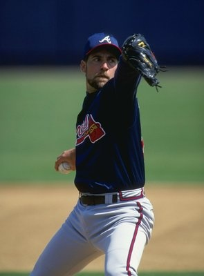 John Smoltz Atlanta Braves. Quite possibly my favorite Brave of all time. A great role model, Christian, and Human Being. And a Hall of Fame Pitcher. I used to go to games with my cousin and Aunt, Uncle and Parents and just missed the times my cousin had a friendship with Smoltz from seeing him at the ball games before the games. I sure wouldve like to have met him and maybe I still can one day.