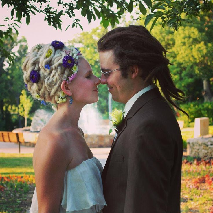 Wedding dreads  so doing this on my wedding day