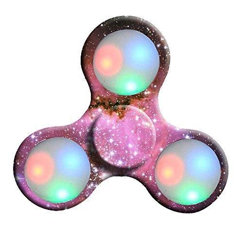 Pineforest LED Galaxy Tri Hand Spinner Kids Adults Toy