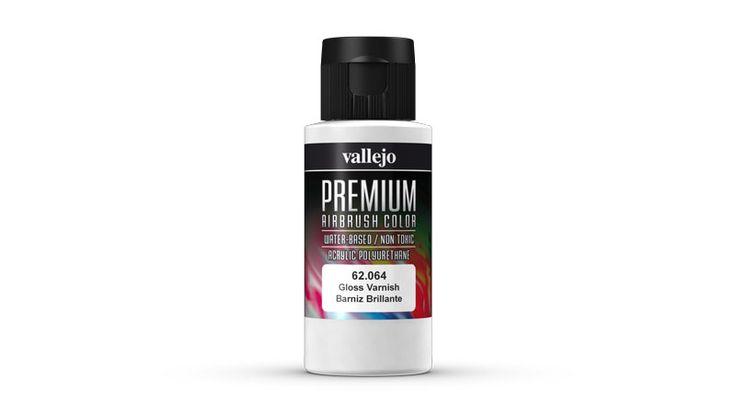 Barniz Brillante para Aerógrafo Vallejo Premium. Airbrush gloss clear.